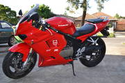 Hyosung GT250R Red ; Low Kms;  Mint Condition;  LAMS,  RWC, REGO